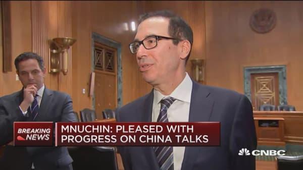 Mnuchin: Pleased with progress on China trade talks