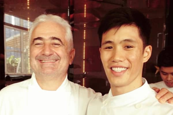 Chris Kong with French chef Guy Savoy.