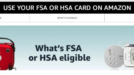 A screenshot of Amazon's FSA/HSA storefront