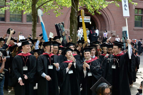 General atmosphere at the Harvard University 2015 Commencement.