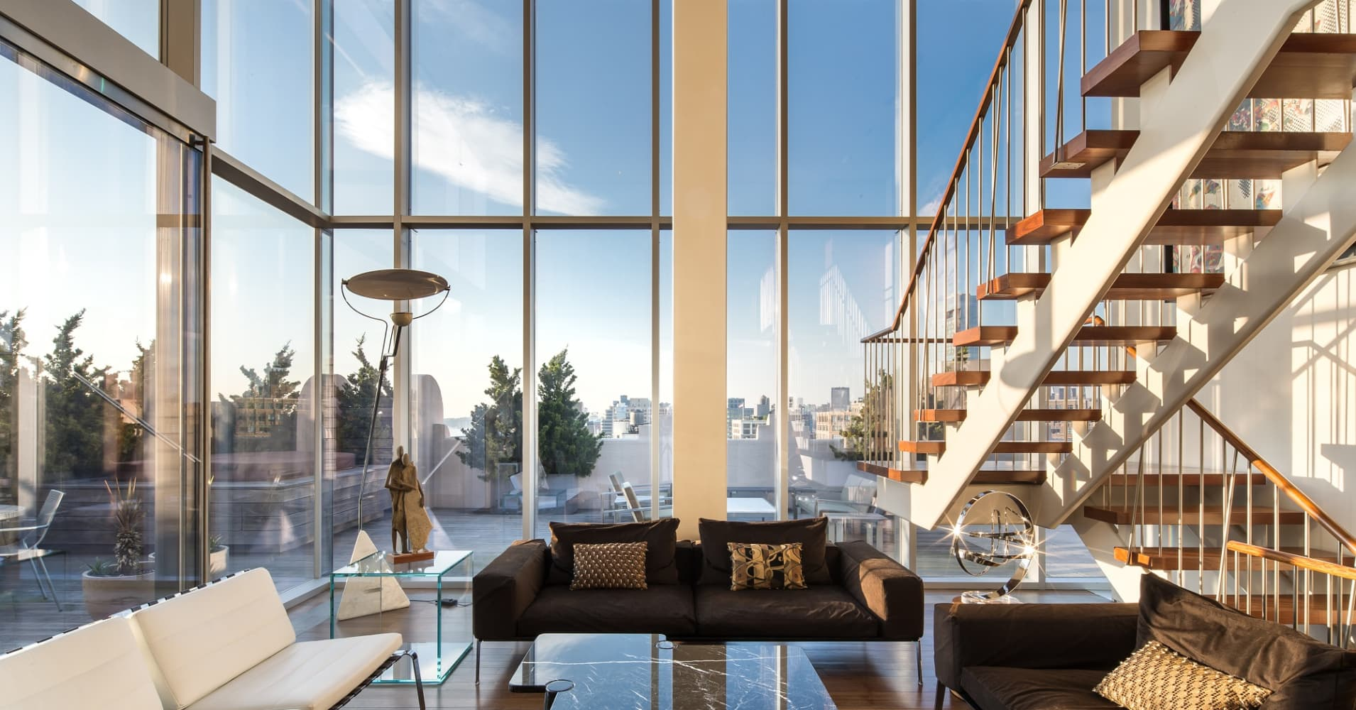 This is the real $45 million NYC penthouse Axe lives in on 'Billions' — take a look inside