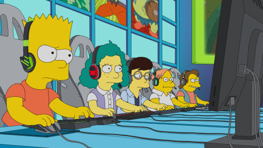 "Bart Simpson plays esports in an episode of ""The Simpsons"" that aired on March 17, 2019."