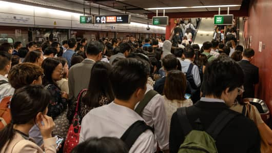 Hong Kong faces commuter chaos after rare MTR train collision