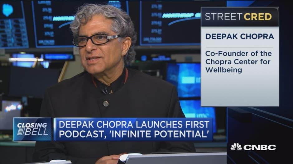 Deepak Chopra on his new podcast,