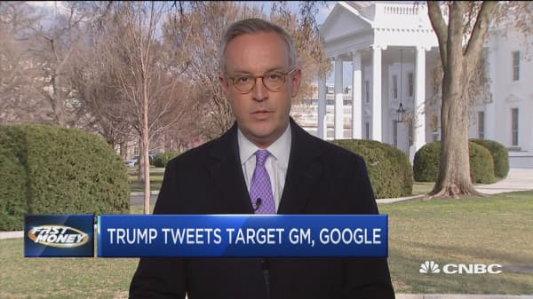 President Trump targets GM and Google in latest tweet storm