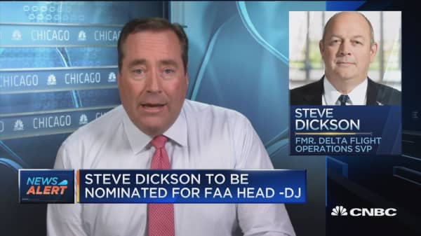Steve Dickson to be nominated as FAA head: Dow Jones