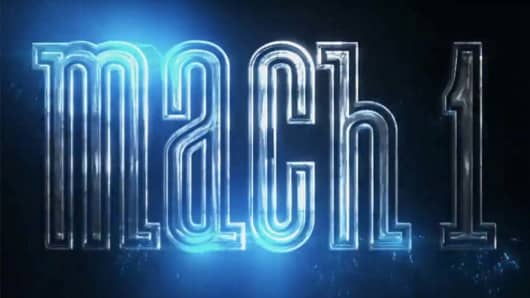 """Ford's tease of its """"Mach 1"""" first showed at the North American International Auto Show in Detroit in January 2018."""