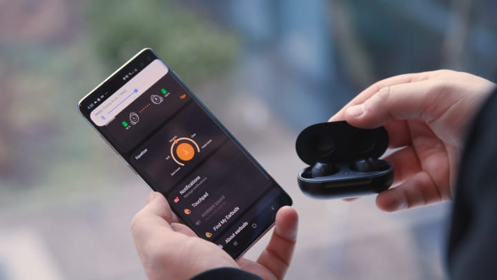 Samsung Galaxy Buds pair easily and have lots of controls.