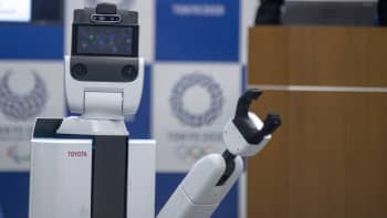 Toyota's Human Support Robot is pictured at a demonstration of the Tokyo 2020 Robot Project in Tokyo, Japan, on March 15, 2019.