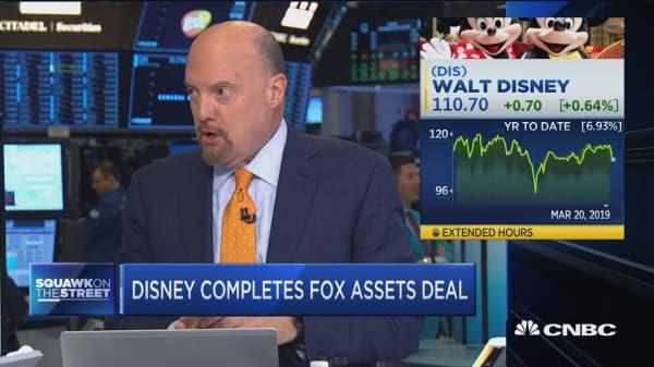 Jim Cramer: The Disney/Fox deal could boost Disney stock