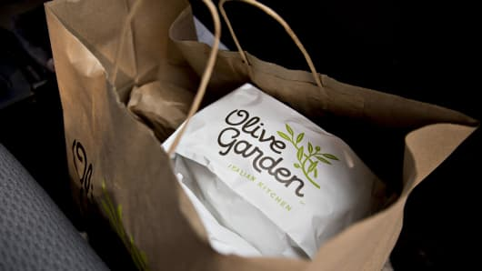 Shares of Olive Garden parent Darden jump after earnings, revenue beat