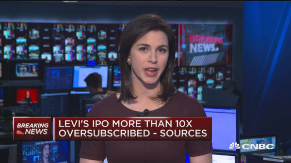 Levi's IPO likely to price above range: Sources
