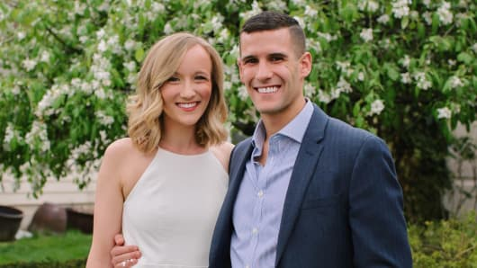 Megan McDonald and her boyfriend, Nick, have been together for over three years but their marriage plans are on hold because of other financial obligations.