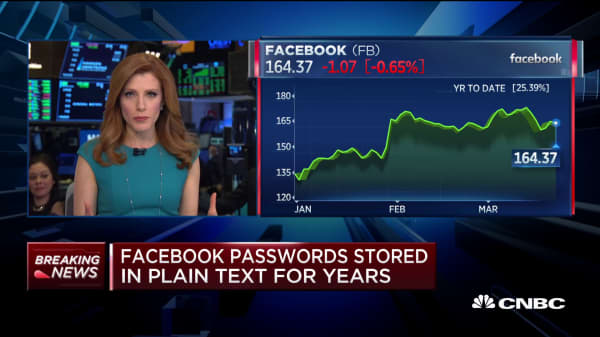 Facebook stored passwords in plain text, accessible by employees