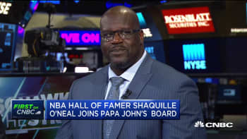 Why Shaq is now a board member Papa John's