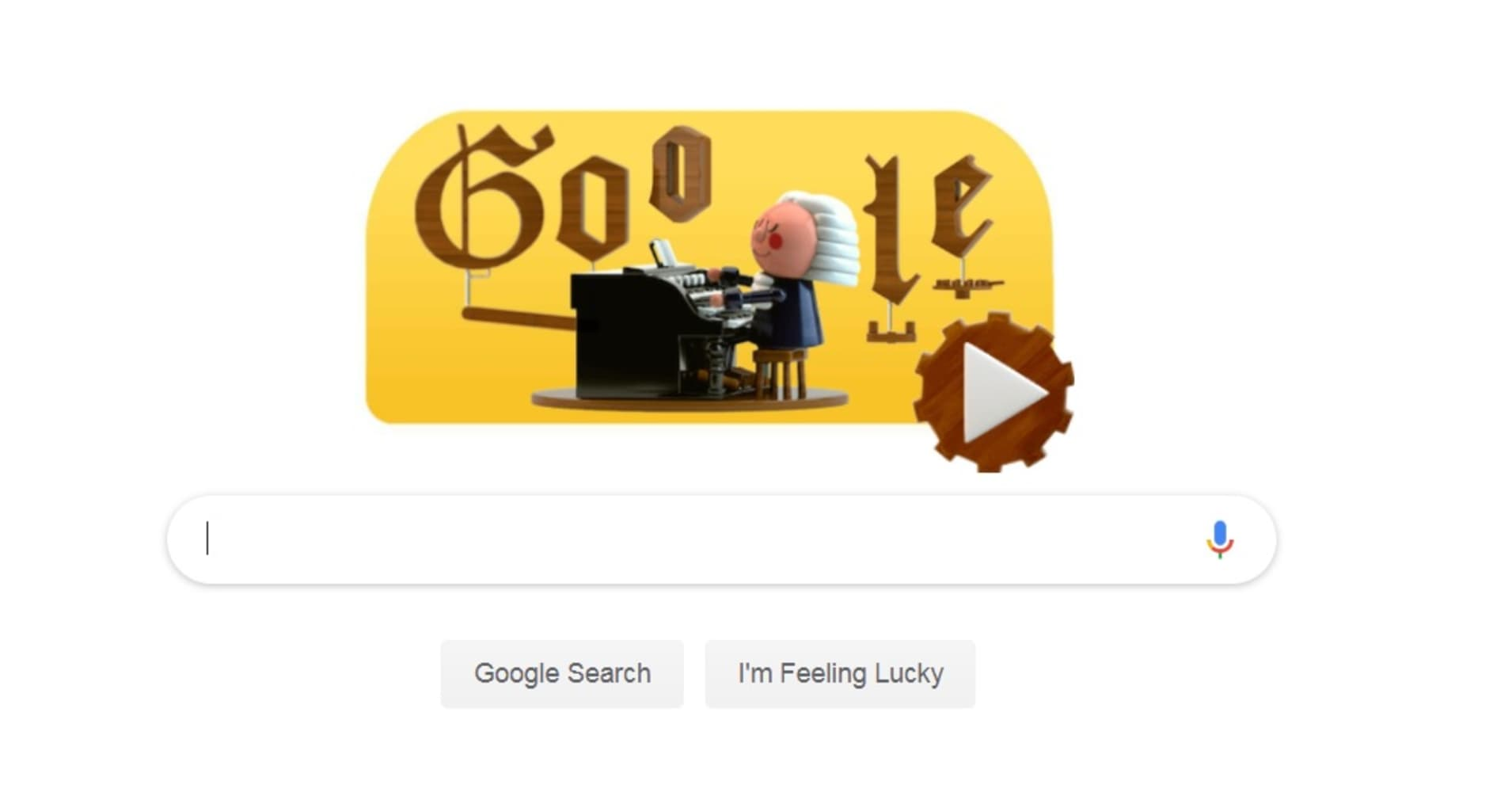 Make music that sounds like Bach with the first Google Doodle, which