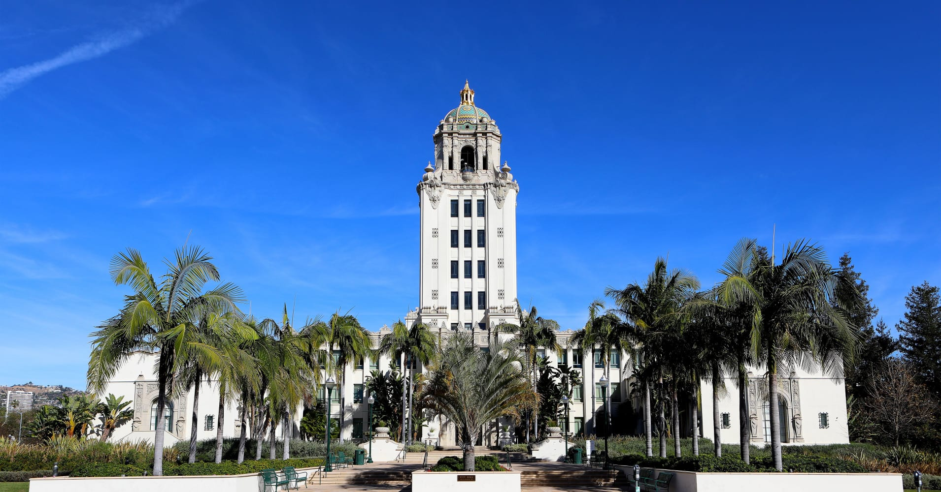 Beverly Hills City Hall in Beverly Hills, California.