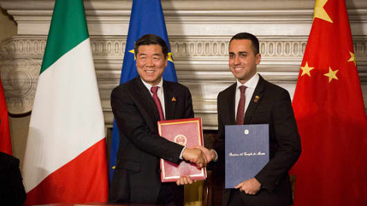 Italy's Di Maio tries to reassure Washington after becoming first EU country to join China's massive Belt and Road initiative