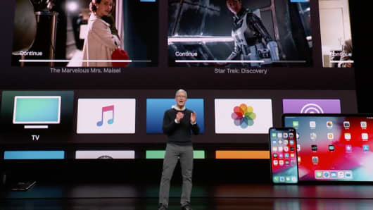 Apple unveils streaming TV services