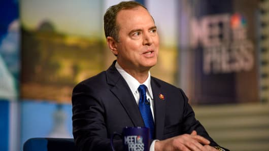 Rep. Adam Schiff (D-CA) appears on 'Meet the Press' in Washington, D.C., Sunday, Feb. 10, 2019.