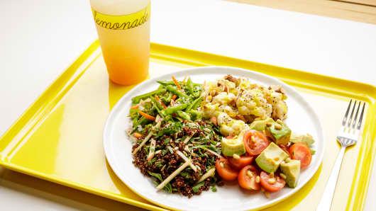 Food plate at Lemonade