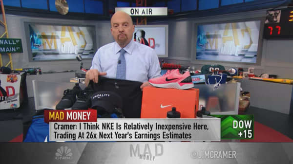 Cramer: Buy Nike's pull back because the company will over-perform