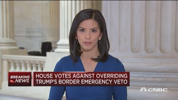 House votes against overriding Trump's border emergency veto