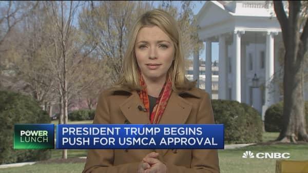 President Trump begins push for USMCA approval