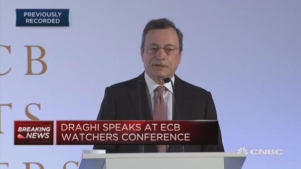 ECB's Draghi: Soft patch doesn't necessarily foreshadow seriosu slump