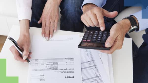 Personal finances bills debt