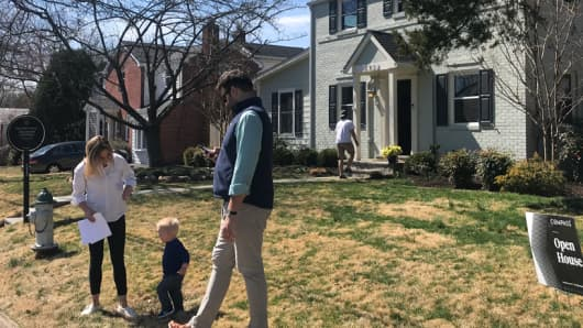 Open house in Bethesda, Maryland on March 24, 2019.