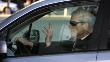 Robert Mueller, special counsel for the U.S. Department of Justice, arrives in a vehicle to his office in Washington, D.C., U.S., on Wednesday, March 27, 2019.