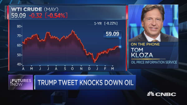 Oil falls after Trump tweet, but energy expert Tom Kloza sees higher prices in Q2