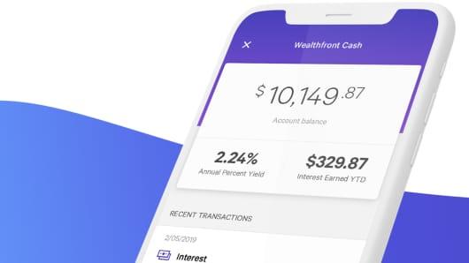 Wealthfront app.