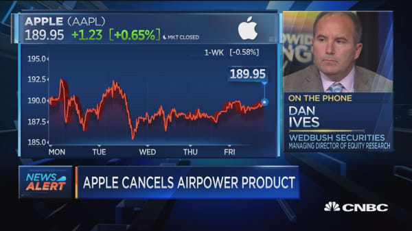 Cancelling AirPower is an embarrassment for Apple, says Wedbush's Dan Ives