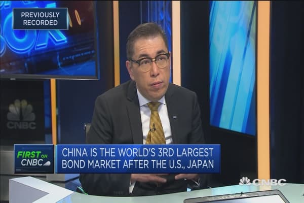 China's bonds debut on Bloomberg Barclays Global Aggregate Index
