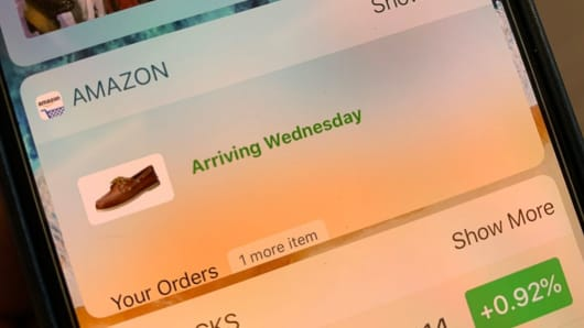 The Amazon widget on an iPhone.
