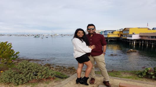 Vraj Parikh is a software engineer in the San Francisco Bay Area, where he lives with his wife Monica. He is applying for H-1B visa this year.