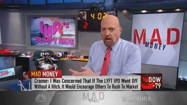 Apathy over Lyft big boost for bull market: Cramer