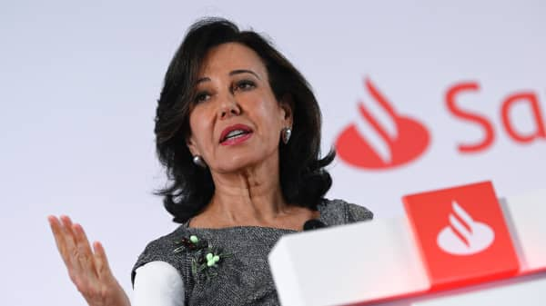 Spanish Santander Bank executive chairperson Ana Botin.