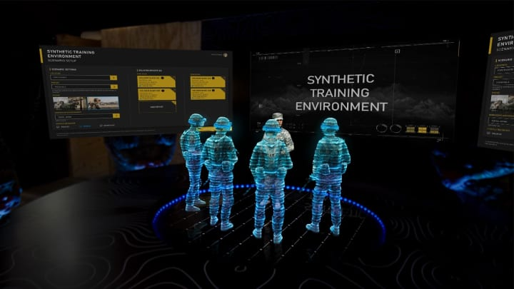 An example performance report of what soldiers will see through HoloLens after a training exercise.