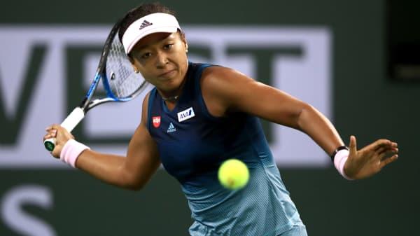 Naomi Osaka of Japan at the Indian Wells Tennis Garden in California.