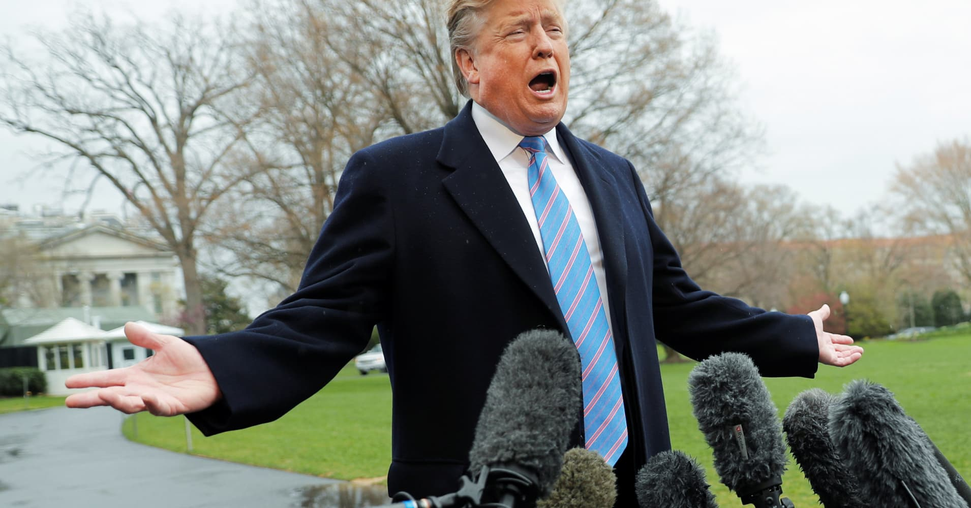 Trump says he has not read the Mueller report, but has 'every right to do so'