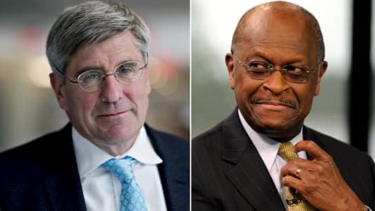 Stephen Moore and Herman Cain