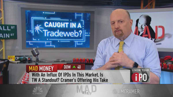 Tradeweb isn't cheap after IPO, but is worth buying slowly: Cramer