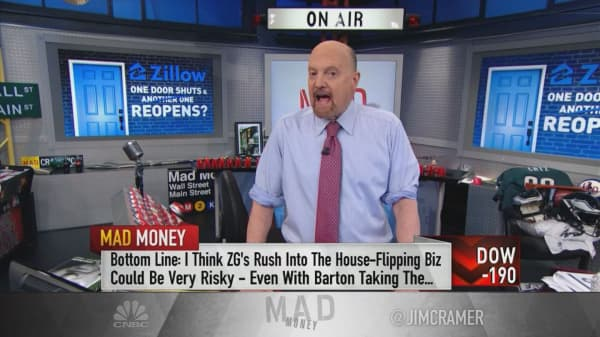 Zillow's home-flipping plan too risky even with new CEO: Cramer
