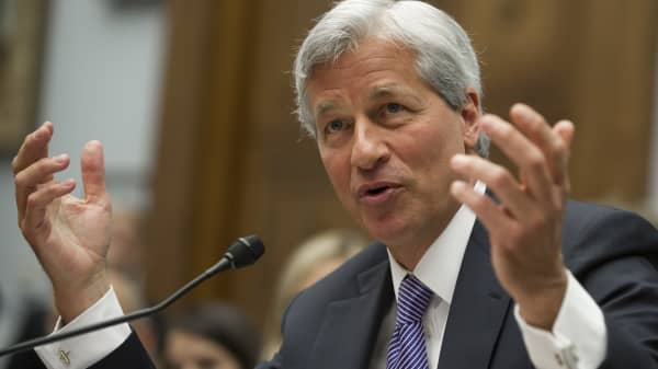 JPMorgan Chase Chairman and CEO Jamie Dimon testifies during a US House Financial Services Committee hearing on Capitol Hill in Washington, DC, June 19, 2012, about JPMorgan Chase's trading loss.