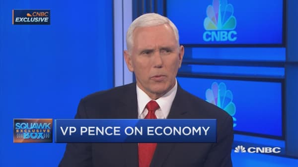 VP Mike Pence discusses economy with CNBC's Joe Kernen