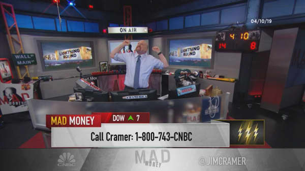 Cramer's lightning round: This stock is good — it's a great level to buy some more