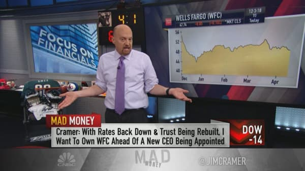 Bank stocks could rally on the 'slightest' good news in earnings reports, Jim Cramer says
